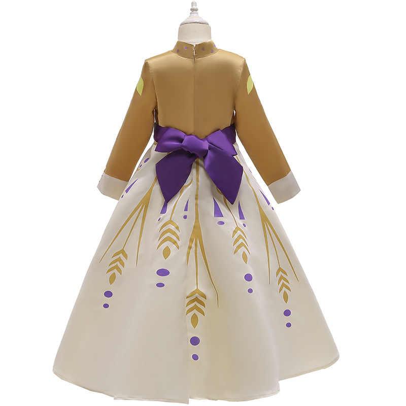 2020 рождественское платье «Холодное сердце 2», «Королева Анна», косплей аниме, детские костюмы для девочек, подарки, праздничное платье принцессы, детская одежда на Хэллоуин
