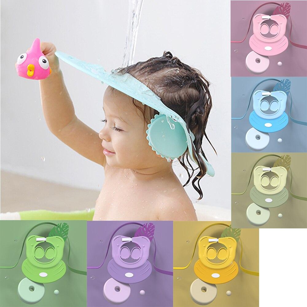 Baby Children Kids Safe Shampoo Cap Wash Hair Kids Bath Adjustable Shield Waterproof Ear Protection Eye Children Hats Infant