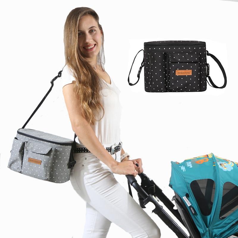 Baby Stroller Organizer Bag Diaper Bag Hook Baby Carriage Waterproof Large Capacity Stroller Accessories Nappy Hanging Bag