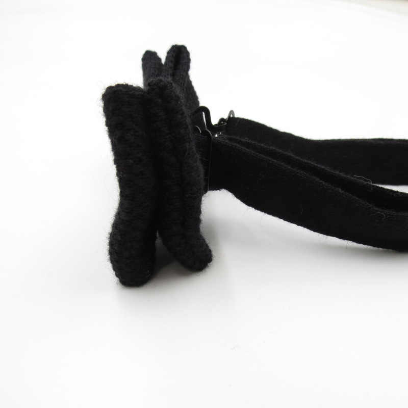 Di Lana a maglia Arco Cravatta a Farfalla di Colore Solido Corbata Cravatta Cravatta Accessori di Abbigliamento Arco Cravatte Per Gli Uomini Borboleta Collare Per Adulti Cravatte