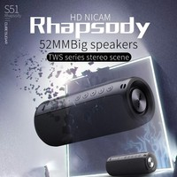 ZEALOT Powerful Bluetooth Speaker Bass Wireless Portable Subwoofer Waterproof Sound Box Support TF, TWS, USB Flash Drive 2
