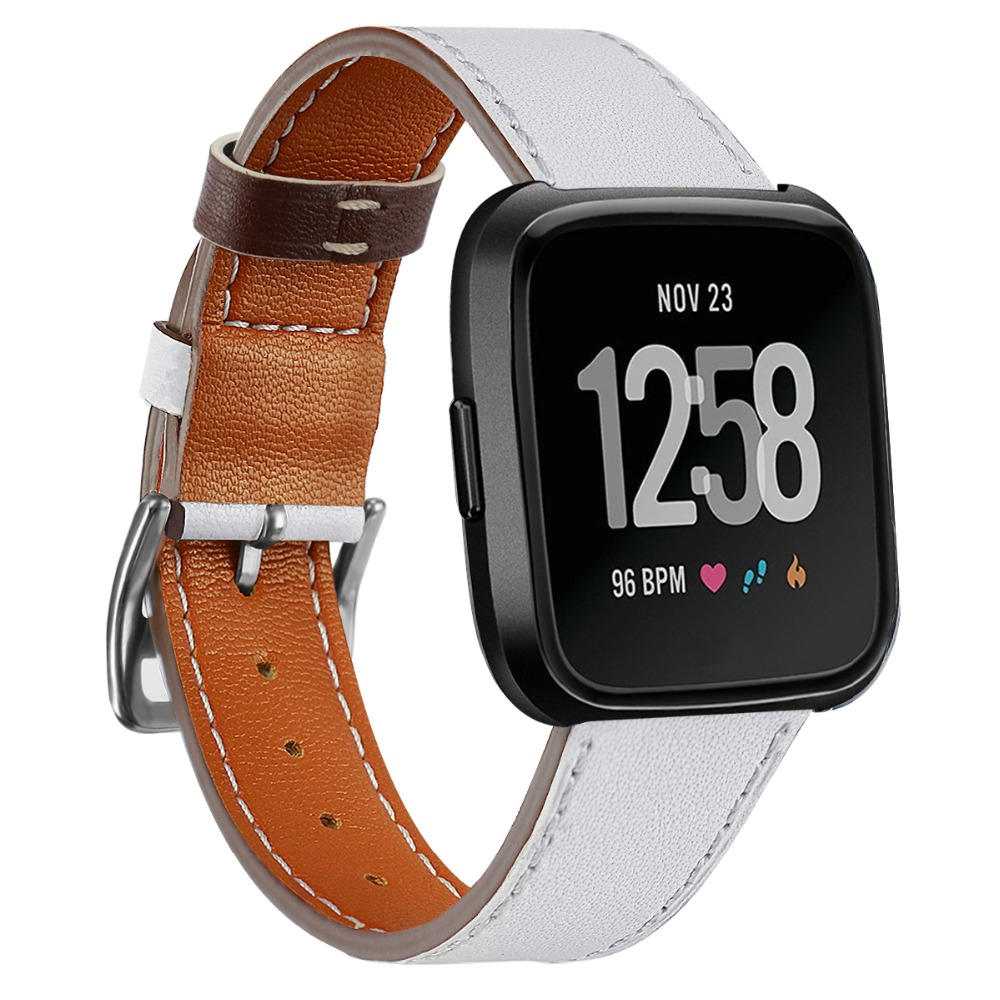 Leather band For Fitbit Versa /versa 2/versa lite strap Versa correa Replacement Bracelet belt smartwatch Watch accessories