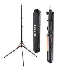 Fosoto FT 190B, Золотой светодиодный светильник, штатив, подставка, сумка, 2,22 м, софтбокс для фотостудии, фотографический светильник, вспышка, зонты, отражатель