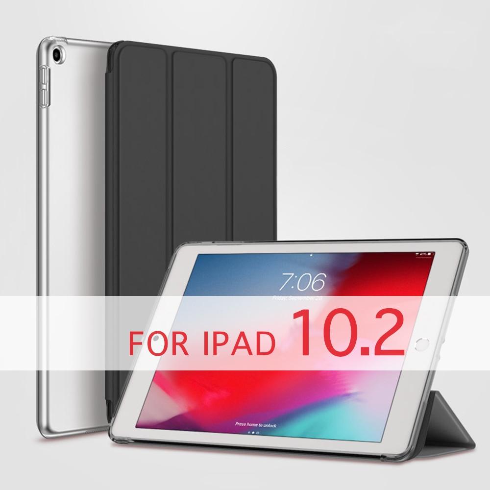 QIJUN Case For Apple IPad 10.2 2019 IPad 7 7th Generation A2200 A2198 A2232 A2197 Funda PC Back Leather Smart Cover Auto Sleep