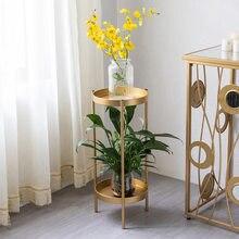 Metall Ende Tische 2 Schicht Einfache Nachttisch Sofa Seite Tisch Kleine Blume Stehen Kaffee Ecke Tisch Wohnzimmer Möbel
