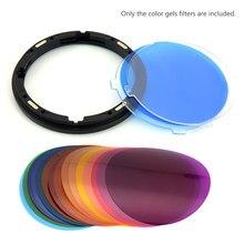 Godox V-11C Kleur Filters Kit in camera filters Camera Ronde Hoofd Knippert 15 Verschillende Kleuren * 2 voor Godox V1 serie accessoire