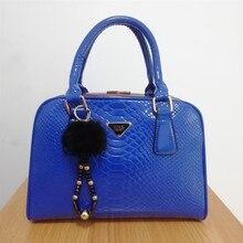 Bags for Women 2019 Women Handbag Crocodile Patent Leather Shopper Tote Shoulder Bag Women's Bag 98601 недорого