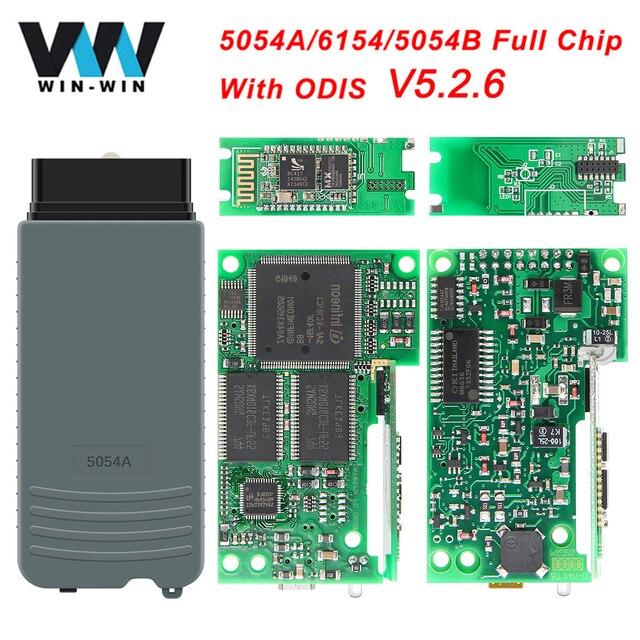 באיכות גבוהה מלא OKI שבב 5054A ODIS 5.2.6 5054A 6154 OBD2 WIFI Bluetooth סורק OBD 2 OBD2 רכב אבחון אוטומטי כלי מכירה לוהטת
