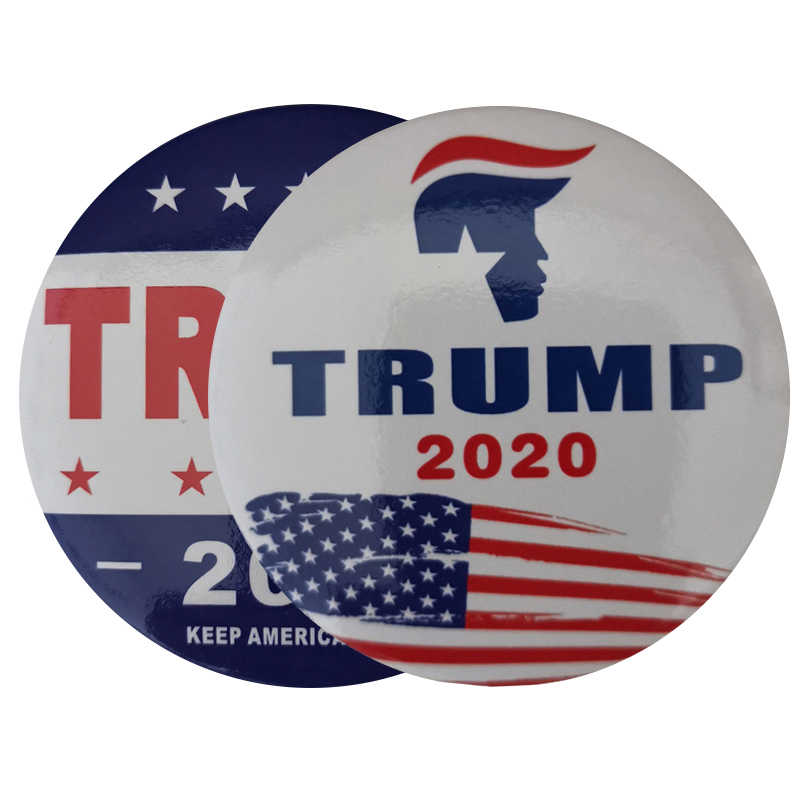 1 PC Fashion Bros Pin Ikon Lencana Pria Wanita Chic Banner Di Ransel Pakaian untuk 2020 Presiden Donald Trump Terus amerika Besar