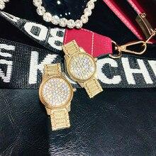 FYUAN Golden Watch Shape Drop Earrings for Women Fashion Geometric Rhinestone Dangle Earrings Party Jewelry Gifts a suit of cute rhinestone geometric earrings for women