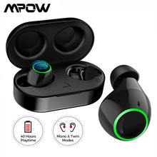 Mpow T6 True Bluetooth 5.0 Wireless Earbuds IPX7 Waterproof Upgraded TWS Earphones with 40H Playtime for iPhone 11 Xiaomi Huawei mpow tws t6 black mpbh333ab