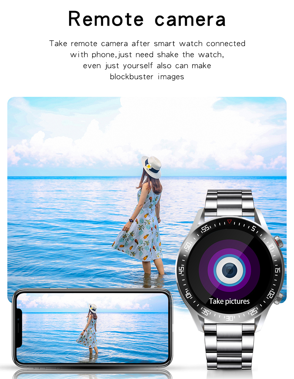 H570c77f61a094eec8593d9e1bedac82b2 LIGE New Smart watch Men Full touch Screen Sports Fitness watch IP68 waterproof Bluetooth Suitable For Android ios Smart watch