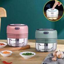 Cozinha elétrica mini triturador de alho vegetal moedor elétrico sem fio portátil máquina alho misturador alimentos cozinha ferramentas