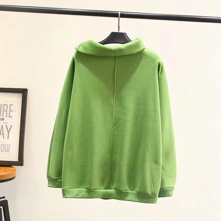 Осенне зимняя женская и Мужская бархатная толстовка на молнии, пуловер, свитшоты, одноцветная толстовка с капюшоном, унисекс, Женский пуловер, верхняя одежда - 2