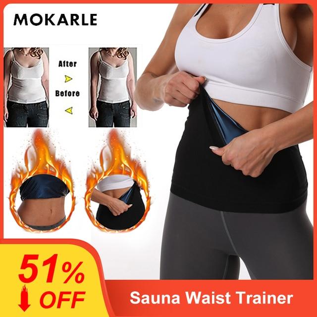 Newest Waist Trainer Neoprene Sauna Fat Burner Slimming Belt Corset Sweat Belt Women Weight Loss Waist Trimmer Workout Fitness