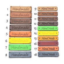 KALASO Высокое качество 20 шт ручной работы этикетки для одежды кожаные этикетки ручной работы бирки джинсы сумки обувь DIY Швейные принадлежности