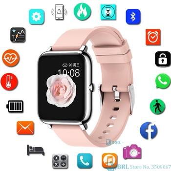Fashion Full Touch Smart Watch Square Women Men Sport Watch Electronic Ladies Wrist Watch For Andriod Ios Smart Clock Smartwatch 1
