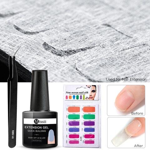 Colorful Fiberglass Nail Extension Silks Set Quick Building Gel Set Tip Nail Wraps Form Extension DIY Nail Art Tool Kit Pakistan