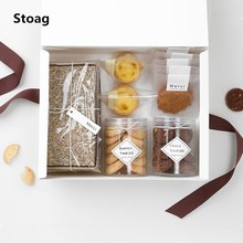 StoBag 10pcs White Cookies Packaging Paper Box DIY Handmade Gift Decoration Birthday Wedding Party Favor
