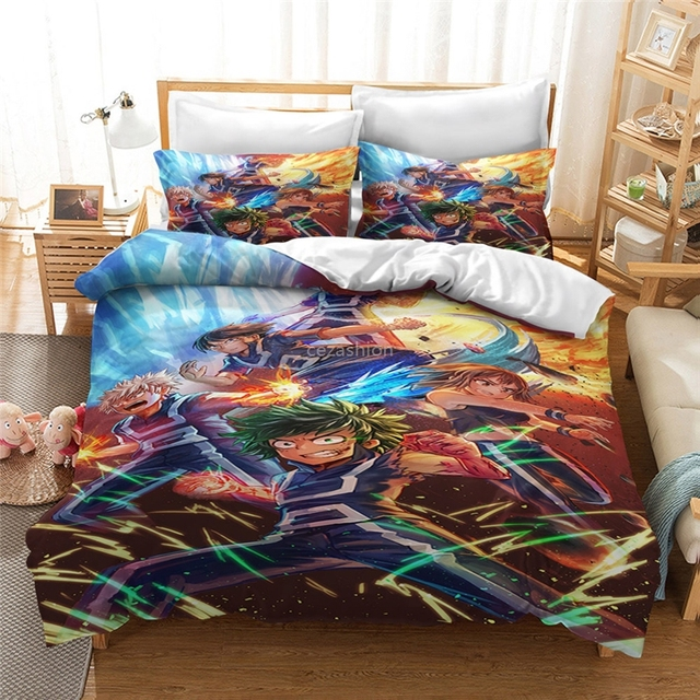 MY HERO ACADEMIA THEMED 3D BEDDING SET (21 VARIAN)
