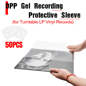 "Image 1 - LEORY 50PCS OPP Gel Recording Protective Sleeve for Turntable Player LP Vinyl Record Self Adhesive Records Bag 12"" 32.3cm*32cm"