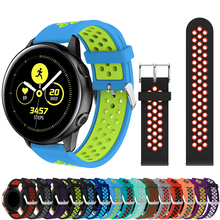 Silicone Watchbands for Samsung Galaxy Watch active smart Replacement Bracelet rubber watch belt 20 mm Strap Gear S2/Sport strap