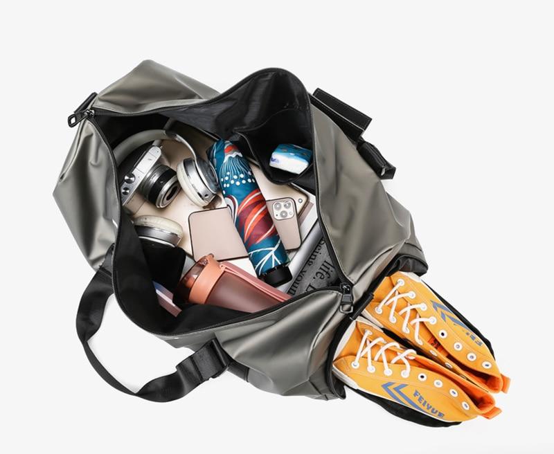 Travel Sports Gym Shoulder Bag Large Waterproof Handbags yoga mat Black Color Women Men Outdoor camping fitness backpack bagage