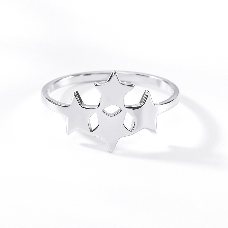 Stainless Steel Star Rings For Women Men Anillos Mujer Classic Gold Ring Bijoux Femme Jewelry Wedding Band Bridesmaid GIfts BFF in Rings from Jewelry Accessories