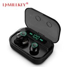 цена TWS Bluetooth 5.0 Earphone Wireless Headphones Power Display Sport Stereo Cordless Earbuds Headset with Charging Box YZ287