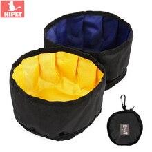 Zipper Design Dog Travel Bowl Outdoor Portable Waterproof Foldable Pet Cat Food Water Feeder Bag For