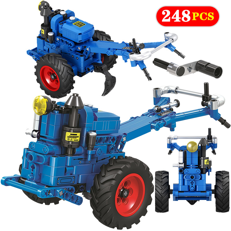 City Classical Tractor Walking Tractor Car Building Block Legoingly Technic Truck DIY Bricks Educational Toys For Children
