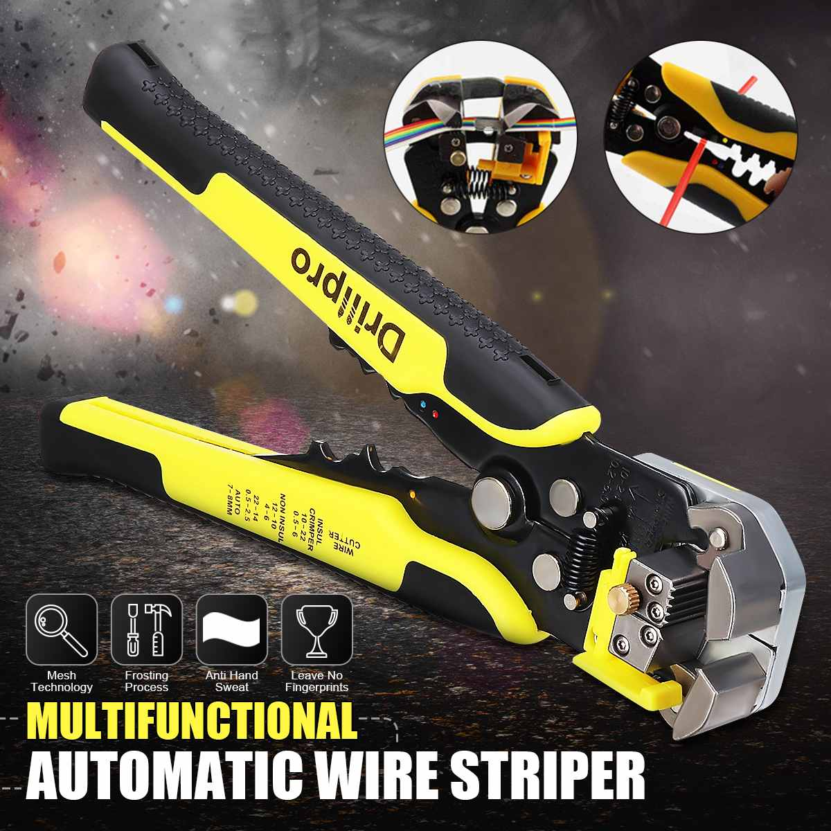 Multifunctional Automatic Stripping Pliers Wire Striper Professional Cord Cutter Cable Crimper Line Pliers Cutting Crimping Tool