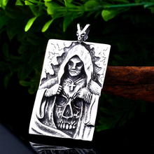 stainless steel double layer round necklace punk link chain circle pendant necklace hip hop women men fashion gothic jewelry Punk Titanium Skull Warrior Gothic Cross Pendant Man Necklace Stainless Steel Chain Rock Hip Hop Necklace Jewelry Gift