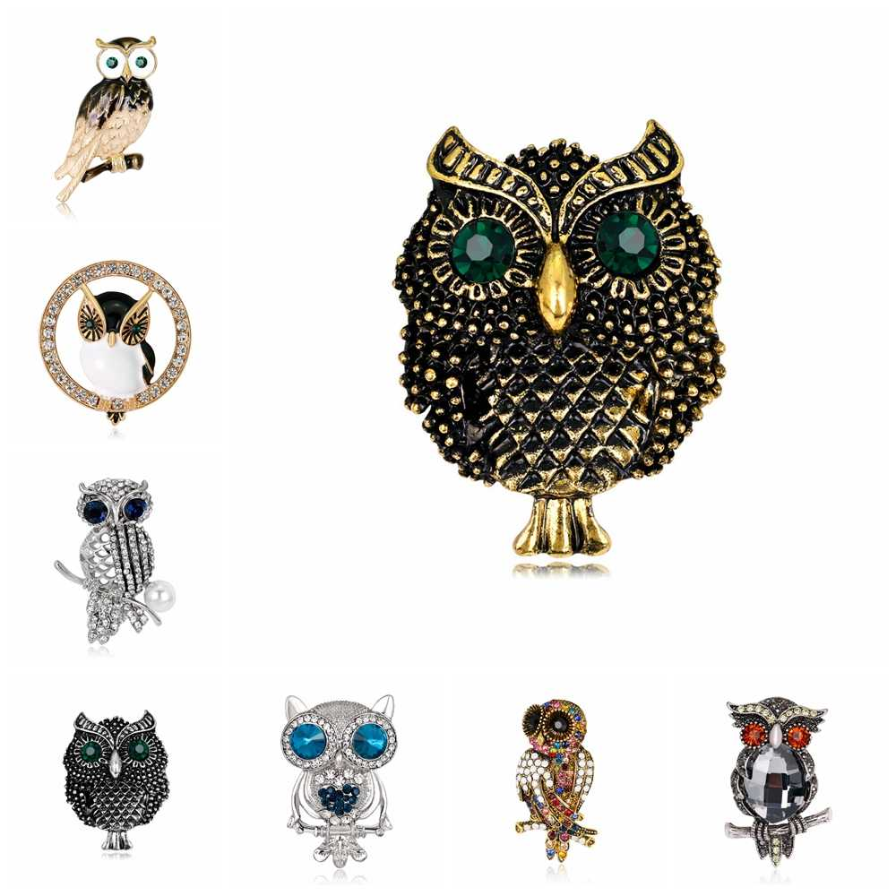 Brooches Owl Bird Branch Enamel Rhinestones Brooches Wedding Party Banquet Jewelry Dropshipping Owl Bird Branch Brooch Pins