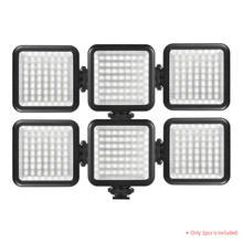 Mini Camera LED Panel Light for Canon Nikon Sony A7 DSLR Dimmable Camcorder Video Lighting 6000K Photography Lighting(China)