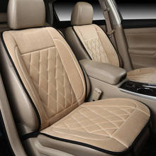 1seat heated massage Faux Fur Front Car Seat Cover Warm Short Plush Cushion Protector Pad Mat for Auto Supplies General Fit Mos