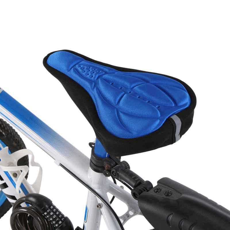 Nieuwe Fiets Zadel Silicon Gels Bike Zadel Cover Fietsen Seat Mat Comfortabele Kussen Zachte Bekleding Nuttig Fiets Deel