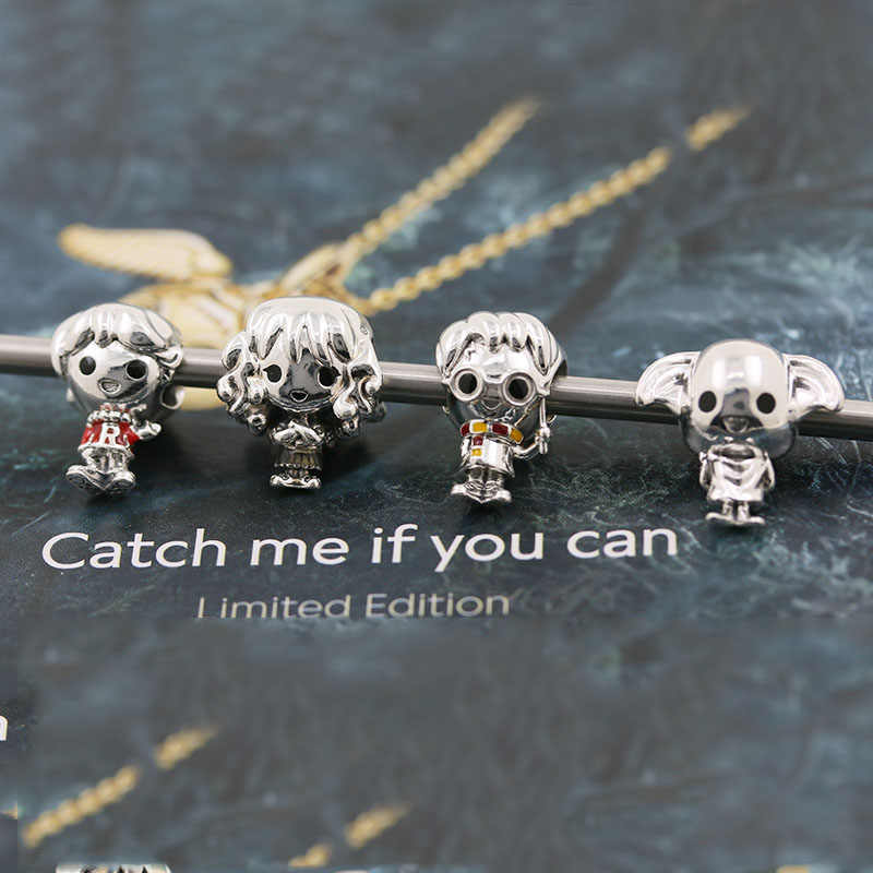 ใหม่ 1:1 Original Harry Hermione Granger RON Weasley Dobby House Elf DIY Charm Fit Pandora Charms เงินสเตอร์ลิง 925 f1-4
