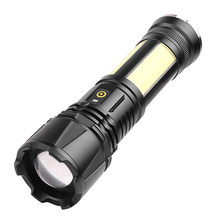 Waterproof 2000LM 5 Modes Outdoor Hunting Camping XHP90 COB LED Flashlight Telescopic Zoomable Rechargeable Torch Lights(China)