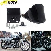цены Gloss Black Lower Front Bottom Spoiler Mudguard Air Dam Chin Fairing For Harley Sportster XL 1200 Iron 883 Nightster Roadster