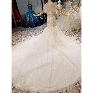 Image 5 - فساتين زفاف AIJINGYU في الثياب للنساء الأميرة البيضاء عالية الخصر رائع فستان عروس رومانسي أبيض