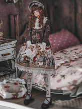Sweet Lolita OP One Piece Dress Infanta Long Sleeve Lace Ruffles Bows Peter Pan Collar Chiffon Soft Pink Lolita Dress sweet custom tailored rococo lolita dress classic vintage floral printed short sleeve midi dress with lace ruffles by miss point