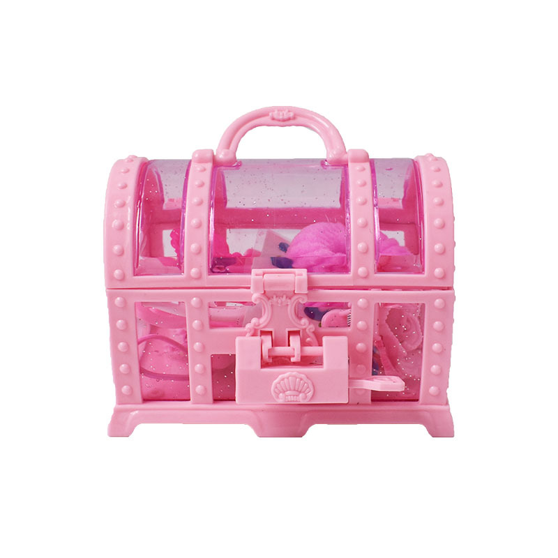 Girl'S Dress Up Toy Small Princess Jewelry Box GIRL'S Play House Jewlery Box Hairtie Headband Toy