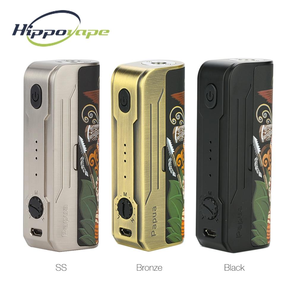 Original Hippovape Papua 100W Box MOD Power By One 18650/20700/21700 Battery & Waterproof Chipset Vs Kudos/ GEN MOD / DRAG 2