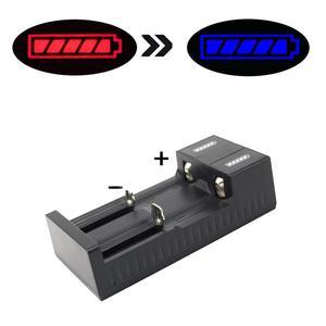 Image 4 - Universal 2 slot Batterie USB Ladegerät Smart Charge 3,7 V für 18650 Ladegerät Akkus Li Ion 18650 26650 14500