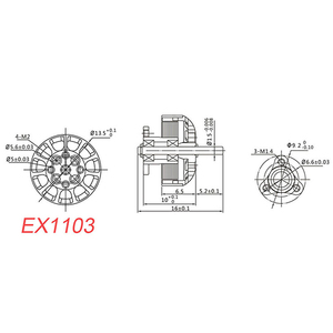 Image 5 - Happymodel EX1103 1103 6000KV 8000KV 12000KV 2 4S ブラシレスモーター Sailfly X つまようじ Rc ドローン FPV モデル