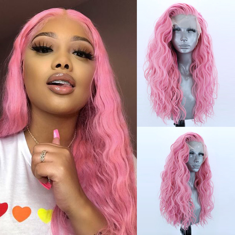 Charisma 26 Inches Long Curly  Wigs Side Part Synthetic Lace Front Wig High Temperature Blonde Wig With Natural Hairline