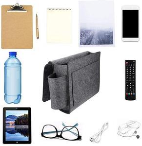Войлочный прикроватный подвесной органайзер, очень большая кровать, карманы для хранения, держатель для книги, телефона, сумка для хранения...