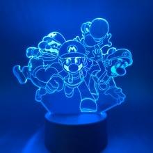 3D Nightlight Lamp Dragon for Child Bedroom Decor Illusion Led Night Light touch sensor night lamp children