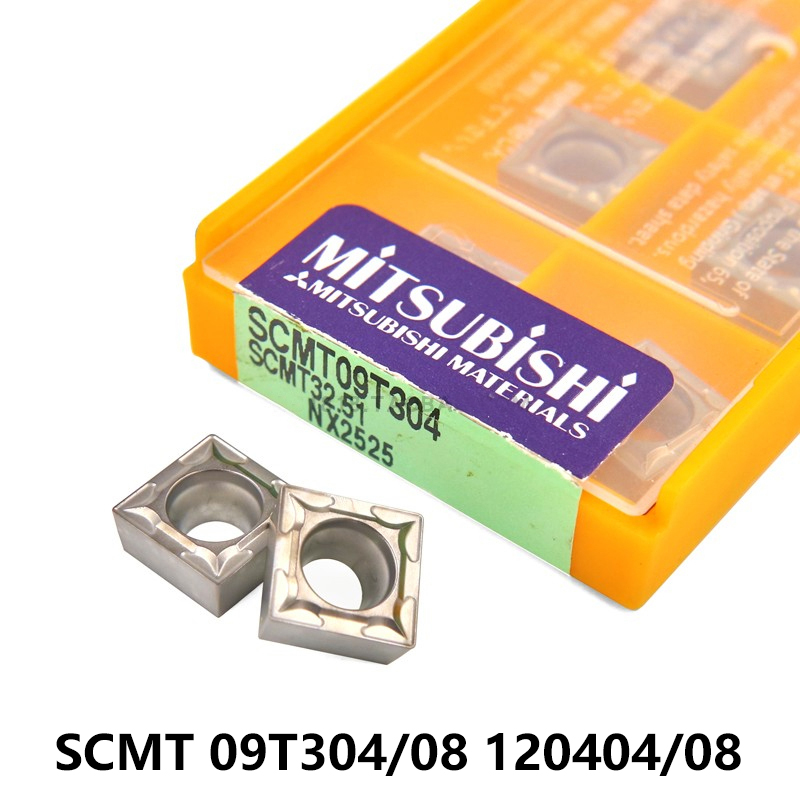 MITSUBISHI SCMT09T304 SCMT09T308 SCMT120404 SCMT120408 SCMT 09T304 09T308 120404 120408 Lathe Tools Carbide Inserts CNC Turning
